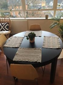 Ikea Bjursta extendable table black/ brown for sale - £100