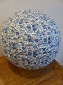 A LOVELY FABRIC LAMPSHADE - EXCELLENT CONDITION