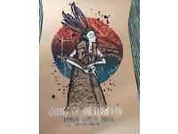Queens of the Stone Age screen printed gig poster from Zurich 11/05/11