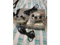 Xbox clear with games and contollers