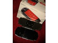 psp (playstation portable), black with charger, boxed