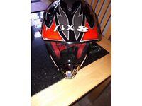Childs Motocross Helmet full face size large size in pics