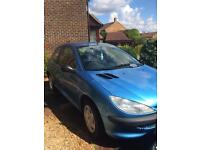 Peugeot 206 1100cc Style.Year MOT from 18.5.17.New battery. £495.00 ono.