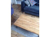Coffee table - Solid oak top