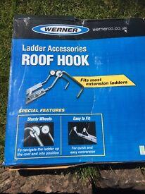 Roof ladder hooks