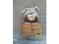 Baby warm vest and hat