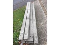 Concrete fence posts 2500x10x10