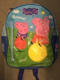 Peppa Pig Backpack filled with Peppa Pig stationery - New