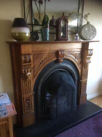 Oak fire place