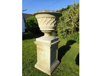 Traditional stone planter
