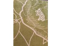 Apple green floral rugs (3available)