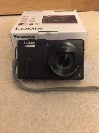 PANASONIC Lumix DMC-TZ60EB-K Superzoom Compact Camera + case, three extra batteries, travel charger