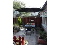 Outside table and chairs patio set