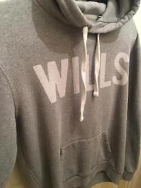 Men's jack wills hoody grey like new