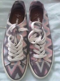 Ladies Next canvas shoes, narrow toe size 6
