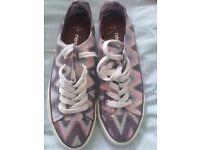 Ladies Next canvas shoes, narrow toe size 6