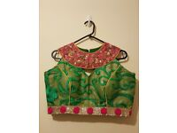 New Pink lehenga with light Green Dupatta and light Green Blouse