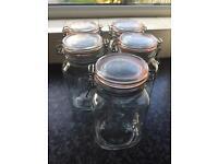 Kilner Jars 1.5L x 5