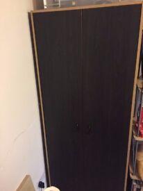 Black wardrobe with extra shelfs