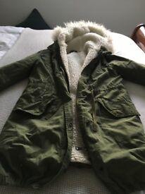 Parka style Coat size 8