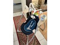 Musical Blue butterfly Swing with choice of 6 speeds and 3 sounds