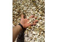 Garden pebble stones gravel