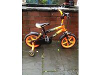 14 inch bike and stabilisers