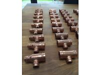 Brand new Yorkshire various 22mm pipe fittings 100 in quantity
