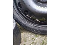 Spare tyre + kit from vauxhall astra 115/70 r16 used once