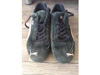 Black Puma trainers Size 6