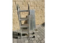 4x4 Rung - Multi Purpose Ladder with Extra Strong 2-Part Platform