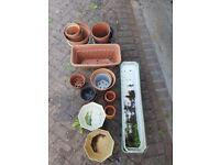 variety of plastic pots 50+