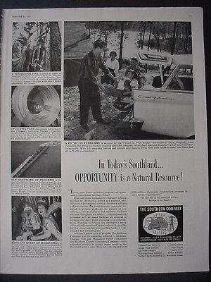 1959 Southern Power Companies Alabama Georgia Gulf Ms Etc Vintage Print Ad 12388