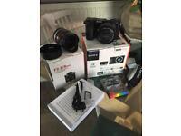 SONY A6000 camera 16-50mm Black, plus SAMYANG 8mm f2.8 fisheye II Lens Sony E fit!