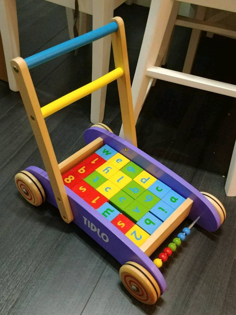 Baby toddler brick trolley toy walker