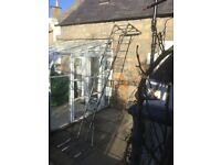 Multi angle folding ladder plus stabilisers , locking bars and instructions