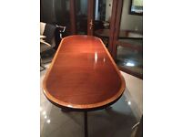 Mahogany with Veneer edges Dining Table, fits 6/10 people.