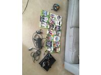 Xbox, two controllers lots of games. Can deliver to Plymouth or surrounding areas of needed.