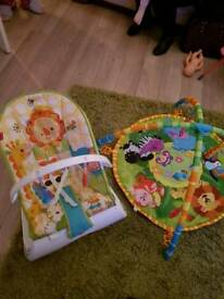 Bouncy chair and play mat
