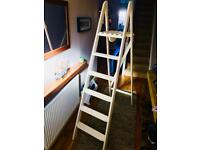 White wood ladder - great for wedding or diy