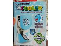 Portable cooler air conditioning unit