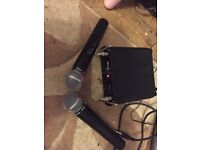 Audio master wireless microphone set