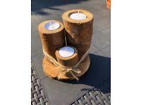 Three Log Candles