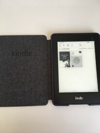 Amazon Kindle with cover. DP75SDI - Black - eBook Reader