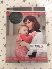 Connecta Baby Carrier in light grey