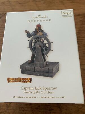 Hallmark Ornament Pirates of the Caribbean Captain Jack Sparrow 2008 Magic Sound