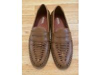 Burton Tan Leather Loafers , size 6