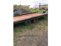 Large flat bed/car transporter trailer