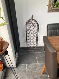 Metal decorative wine rack