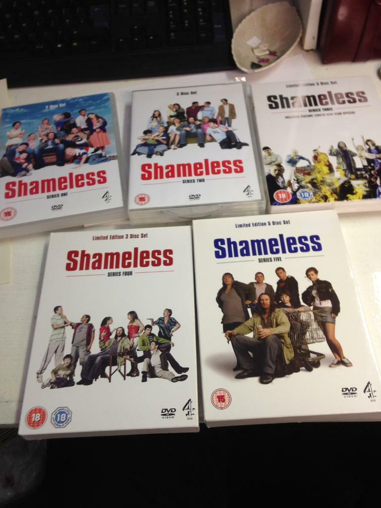 Shameless boxset DVD complete series 1-5 TV show Chanel 4